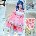 Las Mujeres adultas Sexy Anime netoge no yome wa onnanoko ja nai a omotta? Niñas Cosplay Tamaki Ako Traje Del Vestido de color Rosa