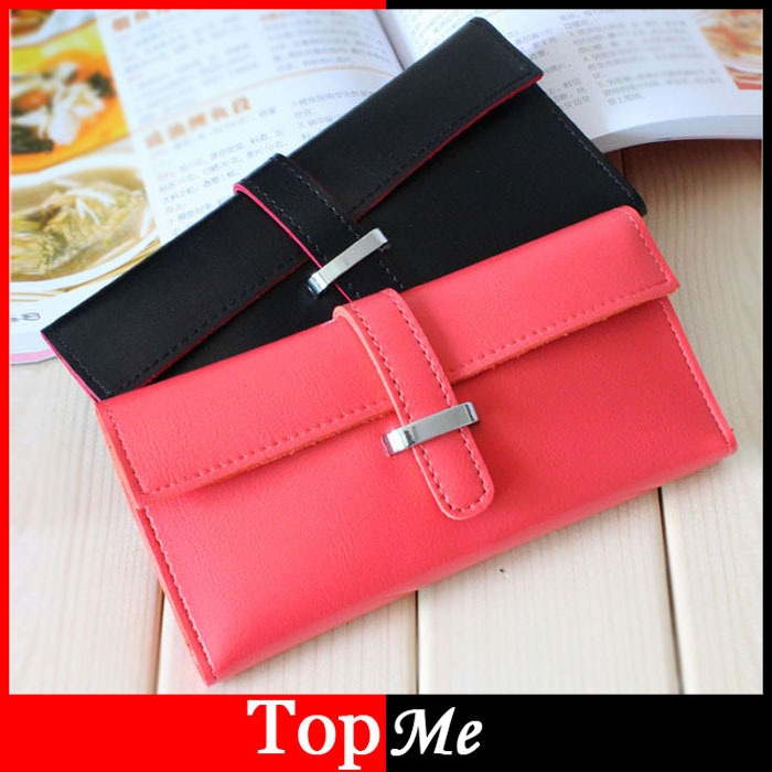 8 Candy Colors New Women Wallets Soft PU leather Hasp Lady Clutch Purses Cards ID Holder Woman Handbags Good Quality Long Wallet