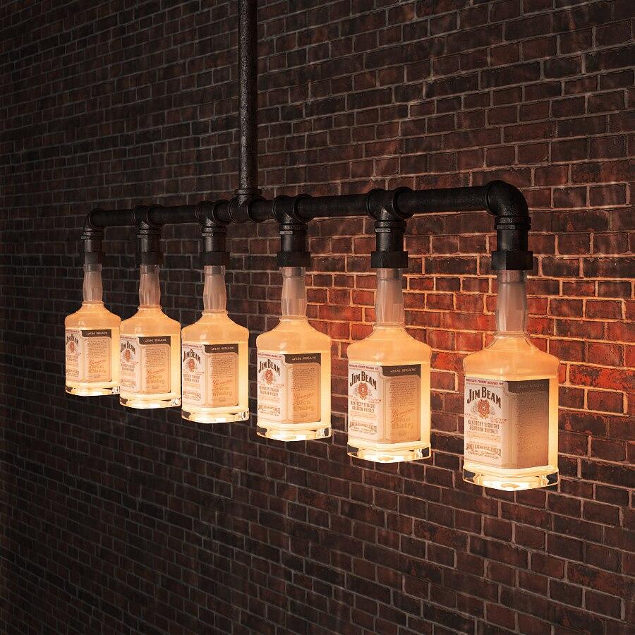 jim beam glas bier flasche kronleuchter beleuchtung. Black Bedroom Furniture Sets. Home Design Ideas