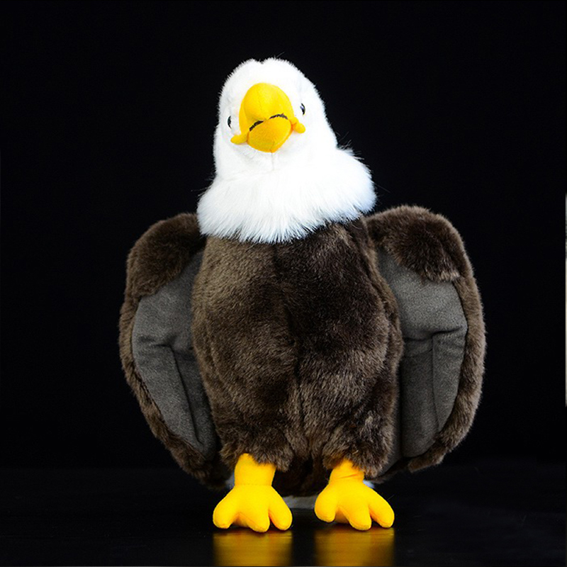 simulation bald eagle Plush Stuffed Animal Collection Soft.kawaii emulational bald eagle artificial lifelike for children girls все цены