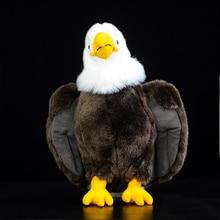 simulation bald eagle Plush Stuffed Animal Collection Soft.kawaii emulational bald eagle artificial lifelike for children girls