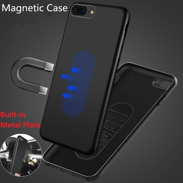 Magnetic Car Holder Case For iPhone XR XS Max X 8 7 6 6s Plus Soft TPU Silicone Magnet Case For Huawei P20 Lite Pro & Car holder