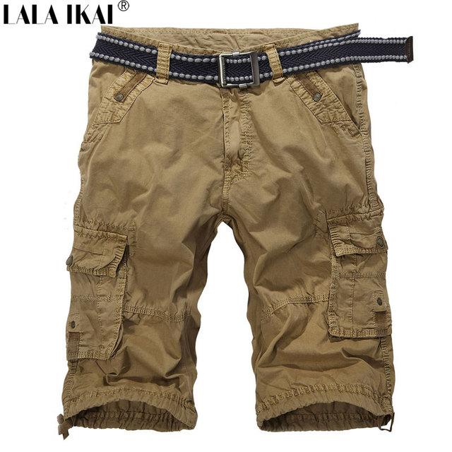 Hombres Pantalones Cortos De Carga Militar Corta Bolsillo Flojo De Verano Al Aire Libre upEd2