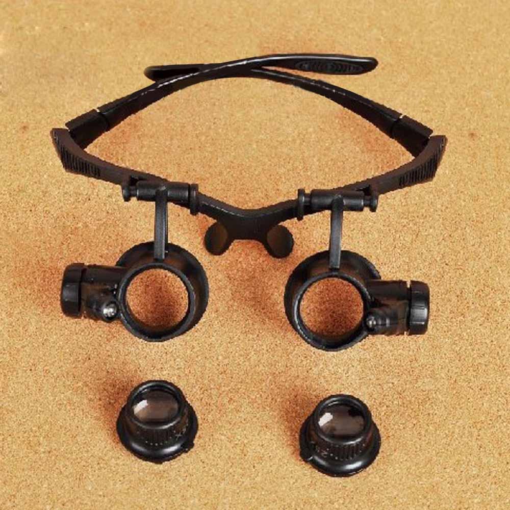 10X 15X 20X 25X Portátil Óculos de Reparação do Relógio Lupa Dobrável Lupa  Lupa Óculos com Luz LED Instrumento Óptico 40d359fbb5
