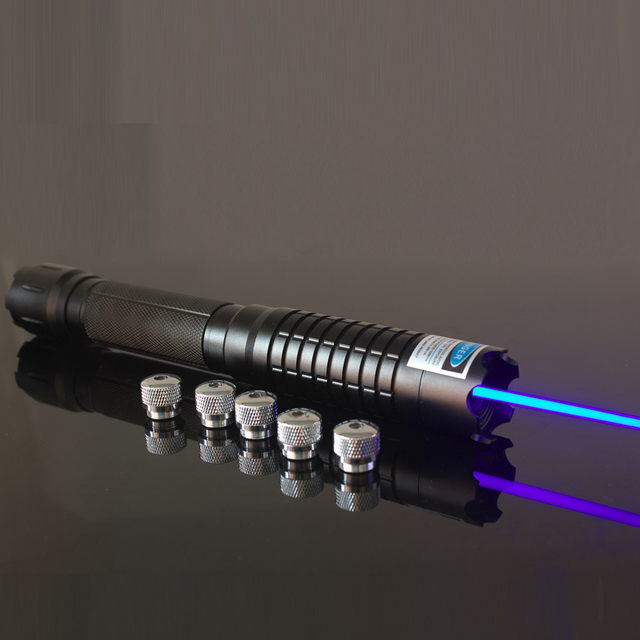 oxlasers OX-BX5 445nm 2W 4W  burning focusable blue laser pointer (5 star caps) with safety glasses+Free Shipping