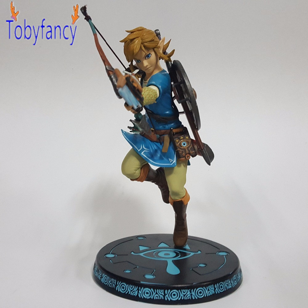 The Legend of Zelda PVC Action Figure 320mm Anime Game Zelda Link Breath of the Wild Collectible Model Toy anime the legend of zelda 10cm boxed action figure toys c0a311