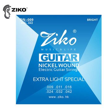 ZIKO .009-.042 DN-009 Electric Guitar Strings Nickel Wound Hexangon Alloy Core Musical Instruments Accessories electric guitar strings 008 to 038 inch plated steel coated nickel alloy wound alice a506
