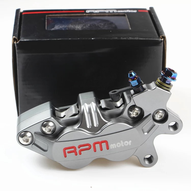Universal CNC RPM Motorcycle Brake Caliper Left Right 40mm Hole To Hole 4 Piston For yamaha Kawasaki Honda suzuki KTM bmw 68mm motorcycle 6 piston brake caliper universal adapter bracket pitch from adelin for honda yamaha ducati kawasaki vespa moto
