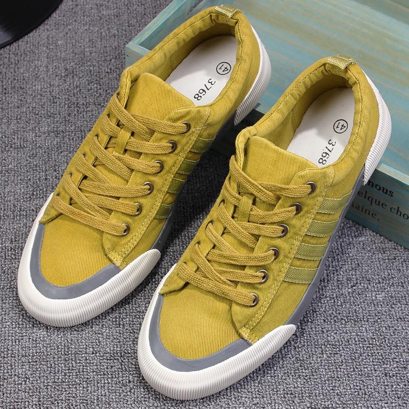 Nueva Llegada  de la Alta Calidad de Los Hombres Pisos Zapatos de Moda Transpirable Hombres Zapatos de Lona Ocasionales Zapatos Hombre zapatos Para Hombre de Pisos