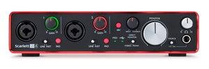 Image 5 - الأصلي FOCUSRITE سكارليت 2i4 II 2nd جيل USB جهاز التحكم في الصوت كارت الصوت المهنية لتسجيل 2 في/4 خارج