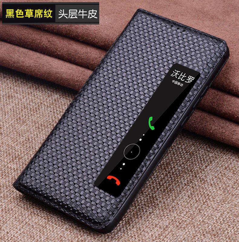 Étui en cuir véritable peau de vache pour huawei P20 housse de protection coque de téléphone pour huawei p20 pro étui intelligent.