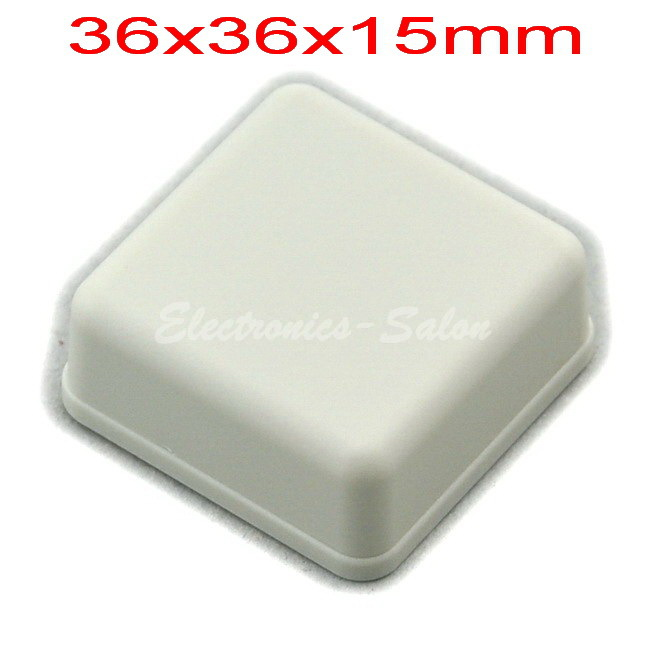 Small Desk-top Plastic Enclosure Box Case, White, 36x36x15mm, HIGH QUALITY.