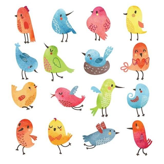 Colife мультфильм Товары для птиц Нашивки для одежды 16 шт./лот футболка Платья для женщин DIY аксессуар украшение уровня моющиеся аппликации