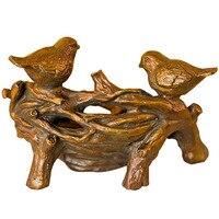 Storage Box Resin Bird Tree Jewelry Box Treasure Chest Case Table Organizer Manual Desktop Sundries Resin Storage Box For Home