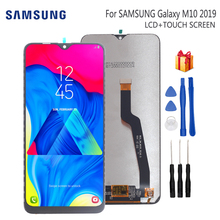 Original For Samsung Galaxy M10 2019 LCD Display Touch Screen Digitizer Assembly M10 2019 SM-105 M105F M105DS Phone Parts все цены