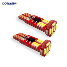 DOTAATDW 5x Auto T10 Led White 194 W5W LED 168 4014 18SMD Car Super Bright Turn Side License Plate Light Lamp Bulb DC 12V aotomonarch 194 t10 led w5w white car super bright 2 smd automobile turn side license plate light lamp bulb led light lamp be