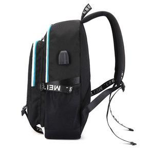 Image 5 - Многофункциональная зарядка через USB для подростков, школьные сумки для мальчиков и девочек, рюкзак для путешествий, светящаяся сумка для ноутбука