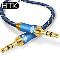 EMK Jack 3.5mm Audio Cable Gold Plated 3.5 mm Male to 3.5mm Male Aux Cable 3m 5m for iPhone Car Headphone Speaker Auxiliary Cord