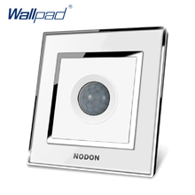 Motion Sensors Switch Wallpad Luxury Arylic Mirror Panel Wall Light Switch Sensor Motion Switch
