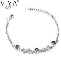 100 Real 925 Sterling Silver Bracelets For Women Jewelry Infinity 8 Bracelet S925 Solid Silver Bracelet