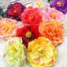 5 PCS/simulation artificial silk flowers peony flower heads wedding decoration DIY household clothing collage artificial flowers