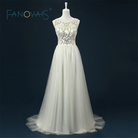 2015 Hot Sale Real Picture Organza Ruffle Wedding Dresses Vestido De Noiva Elegant Sleeveless Low Back