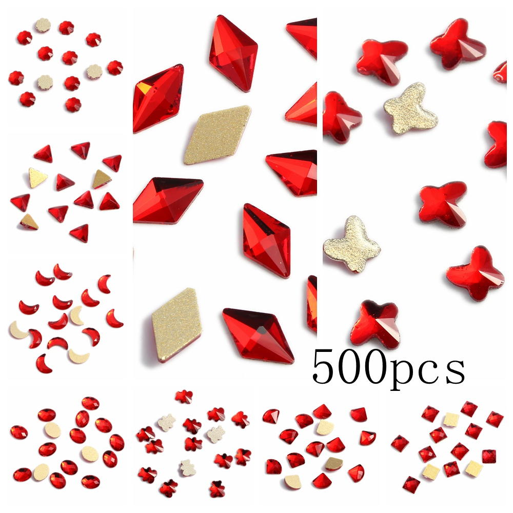 Nail Stickers 500pcs Nail Rhinestone Flatback Nail Stickers DIY Craft Art Charm Stones Craft Art Decorations 1 5mm 2mm 3mm gold silver hot fix flatback half round nail art rivet punk rock style for 3d nail art decoration