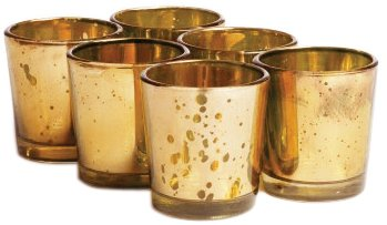 buy set of 24 bulk mercury wedding gold color glass votive holder for. Black Bedroom Furniture Sets. Home Design Ideas