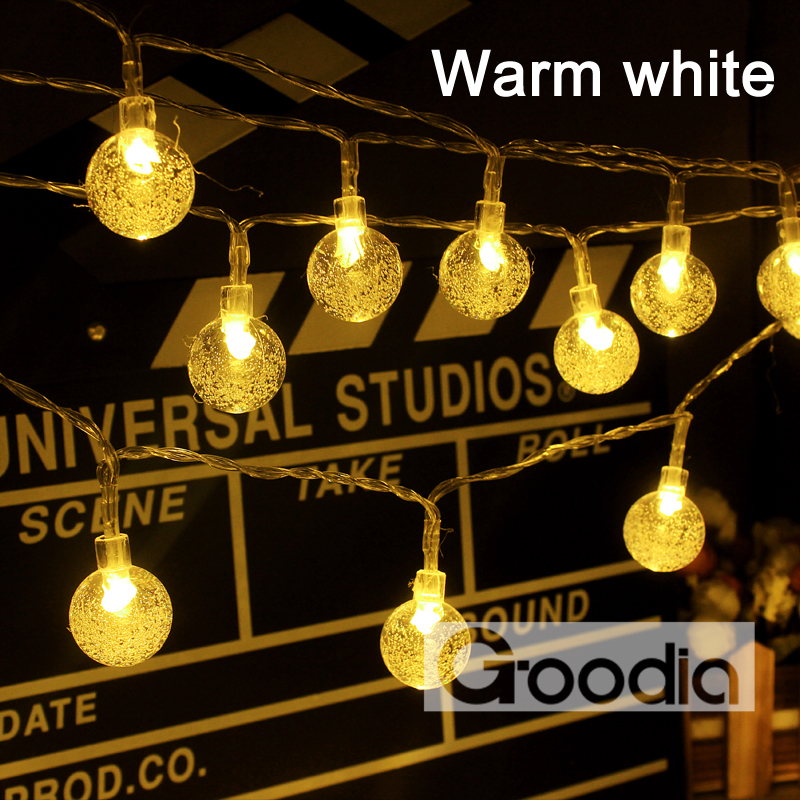 aliexpresscom buy aa battery cool white christmas lights 175 inches 40 led light string crystal ball fairy string lights gardens christmas party from - Led Warm White Christmas Lights