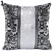 Vintage Black and White Flower Throw Pillow Cushion Cover Case Home Sofa Decor simple black and white moon night design sofa pillow case