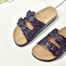Fashion Cork Sandals 2019 New Women Casual Summer Beach Gladiator Buckle Strap Sandals Shoe Flat with  Size 35-40