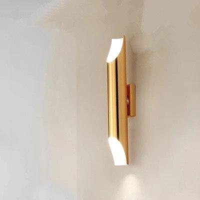 Современная настенная лампа золотого цвета в скандинавском стиле, минималистичный роскошный стиль, дизайнерская модель, фон для гостиной, Настенная прикроватная лампа для спальни