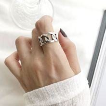 Silvology 925 Sterling Silver Weave Chain Wide Rings Upgraded Version High Quality Japan Style Female Office Jewelry Gift