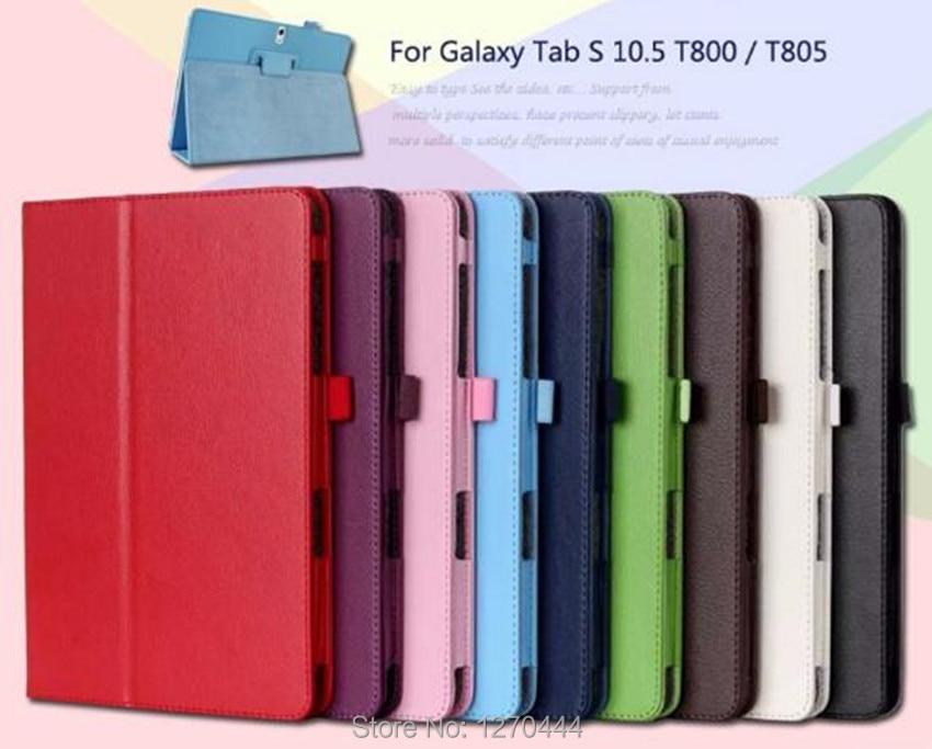Samsung Tab S 10.5 Litchi cilt için Deri koruyucu kılıflar standı - Tablet Aksesuarları - Fotoğraf 2