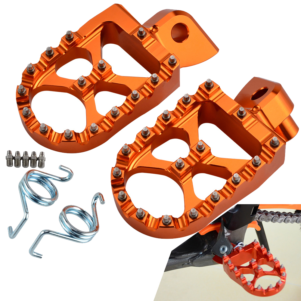 Footrest Foot Pegs For KTM 65 85 125 250 SX 350 450 SXF 200 XC XCF EXC EXCF 525 530 XCW XCFW Freeride 250R Husqvarna Yamaha Beta