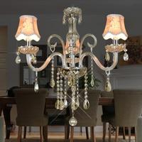 Modern led chandelier lighting Kitchen Dining room 3 Arms Crystal lamp lamparas de techo colgante ceiling crystal chandelier