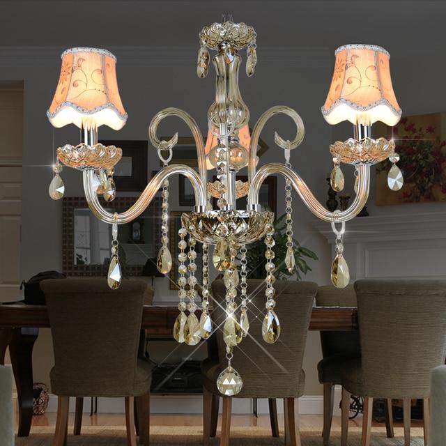 Moderne Led Kronleuchter Beleuchtung Küche Esszimmer 3 Waffen Kristalllampe  Lamparas De Techo Colgante Decke Kristall