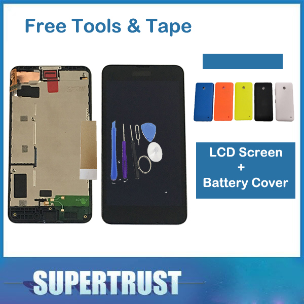 For Nokia Lumia 630 N630 RM-976 RM-977 RM-978 RM-979 LCD Display Touch Screen Digitizer With Frame With Battery Cover With ToolsFor Nokia Lumia 630 N630 RM-976 RM-977 RM-978 RM-979 LCD Display Touch Screen Digitizer With Frame With Battery Cover With Tools