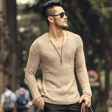 Pullover Men V neck Sweater Men's Brand Slim Fit Pullovers Casual Sweater Knitwear Pull Homme High Quality 2018 New Fashion