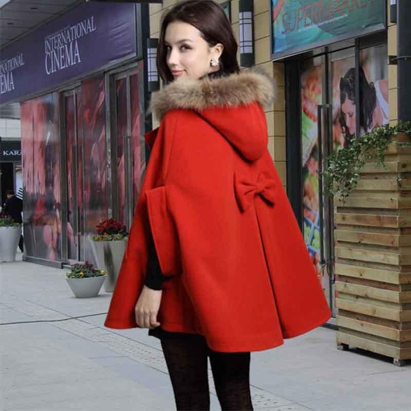 2017 hiver veste femmes plus la taille 4 couleur col ovo un police de laine manteau - Manteau Femme Color