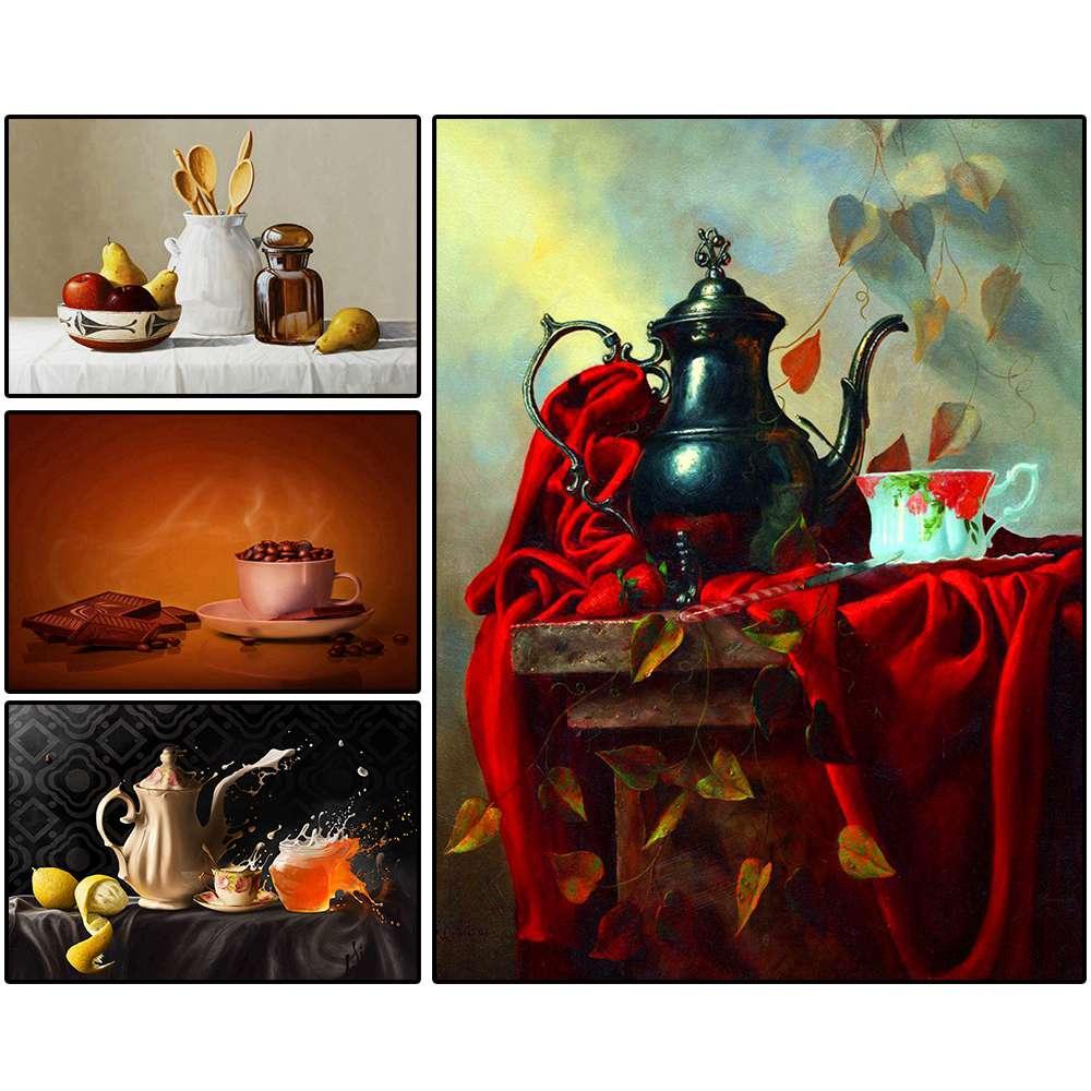 5D, DIY, полный квадрат, алмазов картина, натюрморт, живопись, фрукты, цветы, алмаз вышивка, вышивка крестиком, Спальня Декор, подарки