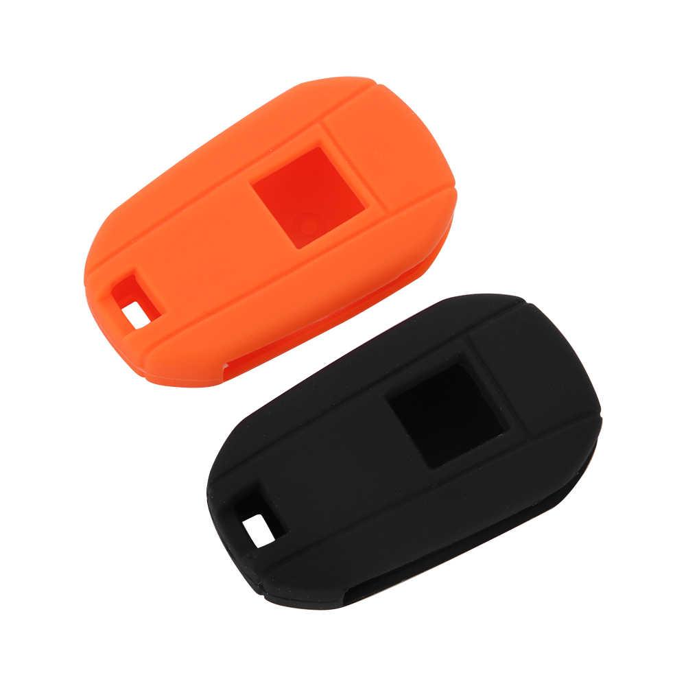 3 nút Silicone Cao Su Chìa Khóa Xe Trường Hợp đối với Peugeot 3008 308 508 408 RCZ 2008 Bảo Vệ cho KHÓA Bìa Chủ Skin phụ Kiện xe hơi