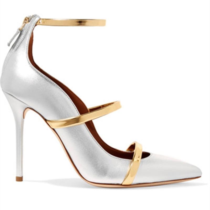 a64eba0d8c55b2 Sandales De Chaussures Bout Mariage Hauts Femmes Roi Sexy As Argent 43  Pointu Emma Mince Taille ...