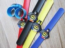 HOT Sale watches 3D Kid Cartoon watches Batman children sports High quality slap wristwatch 10pcs/lot