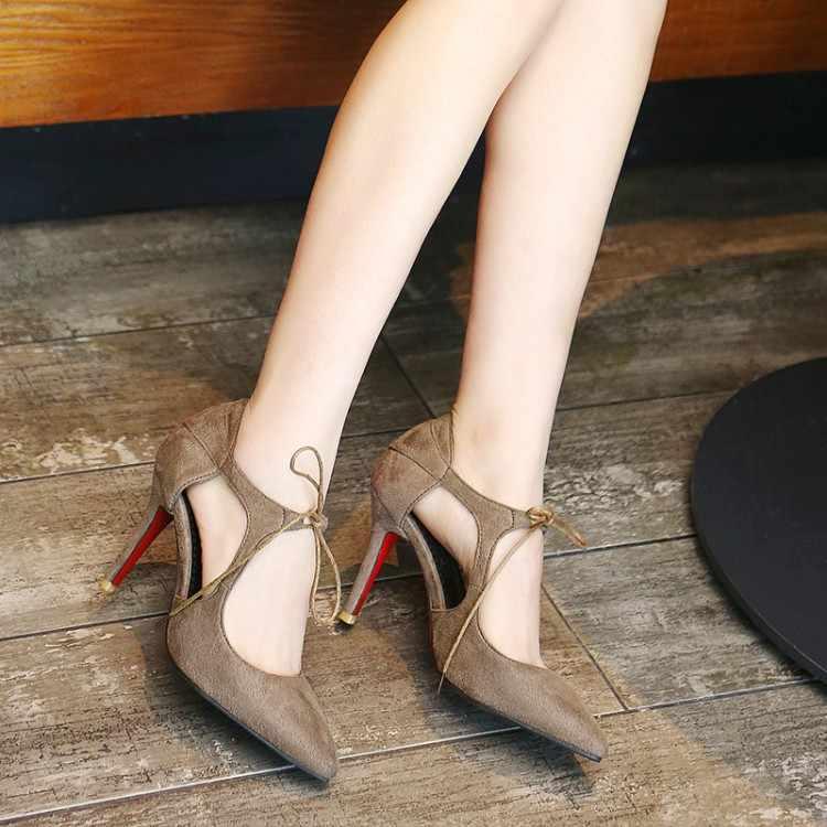 Große Größe 11 12 13 14 15 16 17 damen high heels frauen schuhe frau pumpen Wies Paket die heelShallow mund Fein mit sandalen