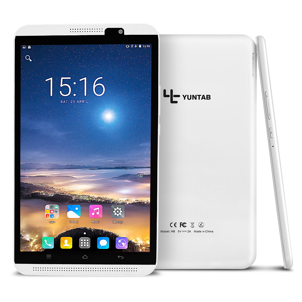 Yuntab 4G tablet 2colors 8 inch H8 Tablet PC Android 7.0 Smartphone High resolution 1280*800  phablet Quad-Core with dual camera yuntab k17 tablet pc android 5 1 unlocked smartphone webcam ips1280 800 with dual camera bluetooth4 0 silver alloy