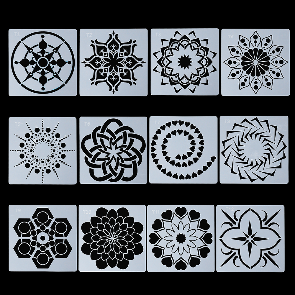 For Wall Painting Scrapbooking Stamping Mandala Stencils Template Tool DIY Craft