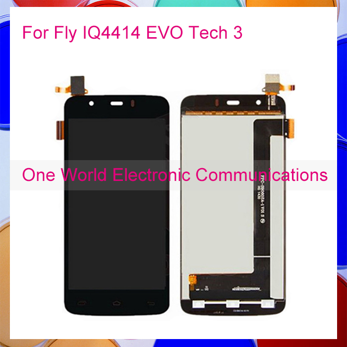 1pcs lot LCD Display For Fly IQ4414 EVO Tech 3 IQ 4414 LCD Touch Screen Digitizer