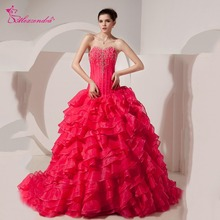 Alexzendra Ruffles Beaded Ball Gown Quinceanera Dresses