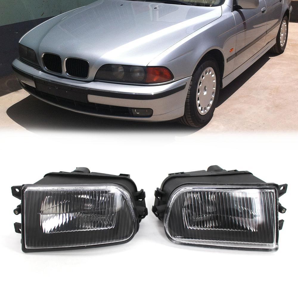 1 Pair Car Fog Light Lamp Automobiles Clear Glass Lens Front Headlight Headlamp for BMW E39 5 Series 95 02 Auto Accessories